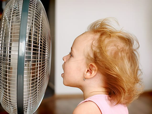 Girl cooling off in need of AC repair in  NC